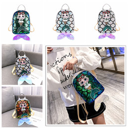 $enCountryForm.capitalKeyWord Canada - Surprise Mermaid laser Backpacks Children sequin Girls Backpacks fish tail kids party summer bag Girls School Bags Satchel Bag FFA2675