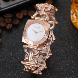 ElEctronic bricks online shopping - GUCCI ladies electronic quartz watch casual fashion luxury inlaid brick stone dial steel strap ladies watchs GG