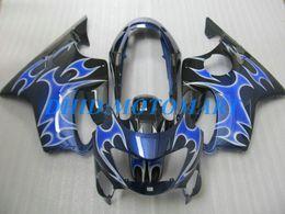 Black Body Honda Australia - Injection Customized Fairing set for HONDA CBR600F4 99 00 CBR600 F4 1999 2000 CBR 600 F4 600F4 CBR600 blue black Fairings body kit HP51