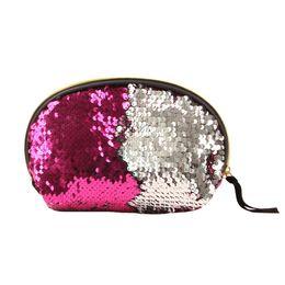 $enCountryForm.capitalKeyWord Australia - Women Mermaid Sequins Glitter Cosmetic Bag Sequined Ladys Make Up Pouch Glitter Storage Zipper Purse Bag Ljjs18
