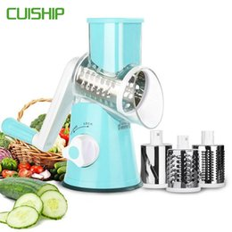 $enCountryForm.capitalKeyWord Australia - CUISHIP Vegetable Cutter Round Mandoline Slicer Potato Carrot Grater Slicer with 3 Stainless Steel Chopper Blades Kitchen Tool