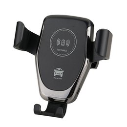 Wholesale Car Mount Qi Wireless Charger For iPhone XS X XR Fast Wireless Charging Car Phone Holder For Samsung Note S9 S8