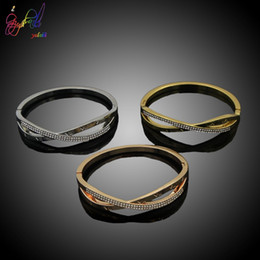 Rose Plated Bracelets Australia - Yulaili 2019 New Simple Unique Design Three Color Rose Gold Silver Gold Color Bracelet Jewelry For Girl Gift
