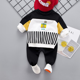 $enCountryForm.capitalKeyWord NZ - Toddler Kids Baby Boy Clothes Sets Casual Striped Autumn Outwear Sets T-shirt Top+Pant Outfits