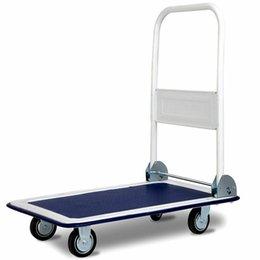 Vente en gros 330lbs Plate-forme Panier chariot pliant pliable mobile Entrepôt Pousser DIABLE Nouveau
