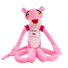Pink Girl Toys Australia - Hot sell Pink Leopard plush toys lovely Stuffed Animals Leopard dolls Naughty Leopard Tigger children girls holiday gifts