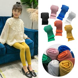 yellow leggings Canada - 2020 Fashion glisten girls leggings Summer Kids Leggings Girls Tights Kids Tights baby trousers kids designer clothes girls pants B1106