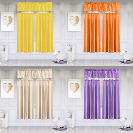 $enCountryForm.capitalKeyWord UK - 2019 3Pcs Pure Color Kitchen Home Curtain Swag Window Curtain Set Solid Blackout Durable Party Featival Decoration #45