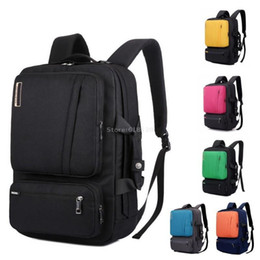 Discount briefcase school - Multifunctional Laptop Backpack 15 15.4 15.6 17 17.3 inch notebook Briefcase shoulder bag handbag school Bag for men wom