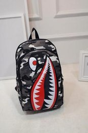 $enCountryForm.capitalKeyWord NZ - Fashion Leopard Shark Mouth Backpacks For Teenagers camouflage Travel Backpack Kids School Bags Cool Laptop Bag