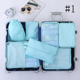 piece cosmetic bag set Australia - Cosmetic Bag Twill Zipper Waterproof High Capacity Wear Resistant Portable Seven Piece Set Simple Cube Packing Travel