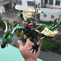 Toys Bricks Australia - 618Pcs Ninjagoes The Green NRG Dragon Model Building Blocks Kits figures Bricks Toys Compatible with Legoe Ninjagoes