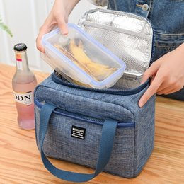 food ice packs NZ - Oxford Insulated Cooler Bag Insulation Portable Ice Food Container Organizer Lunch Picnic Box Ice Pack Therma Bag Refrigerator SH190923
