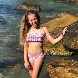 7c55ea9fba Kids swimwear for girls Children separate swimsuit Kid Girls Bikini Cute  Beach Watermelon Straps Swimsuit+Shorts Swimwear Set