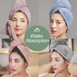 $enCountryForm.capitalKeyWord Australia - 1PC Quick Dry Microfiber Towel Hair Magic Soft Bathing Spa Turban Wrap Hat Cap D3
