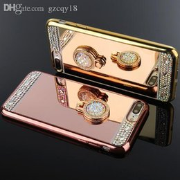 $enCountryForm.capitalKeyWord Australia - Luxury Handmade Diamond Case Make Up Mirror Case for IPhone X XS MAX XR 8 Plus 7 6 6S Plus I Phone 6s with 360 Finger Ring Stand Holder