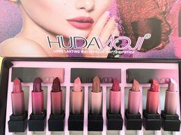 Matte Color Lasting Lipsticks Australia - 2018 new HUDA MOJI 12 color lip gloss palette cream lip makeup long-lasting cosmetics limited edition matte lipstick palette free shipping