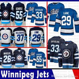 Winnipeg Jets 29 Patrik Laine Hockey Jerseys 26 Blake Wheeler 33 Dustin  Byfuglien 37 Connor Hellebuyck 55 Mark Scheifele Jersey 2018 2019 407f490e3