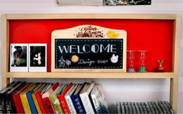 $enCountryForm.capitalKeyWord Australia - Double-sided hanging small blackboard children's magnetic small drawing board message board to send chalk board eraser pen manufacturers st