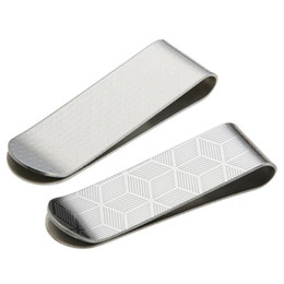 $enCountryForm.capitalKeyWord Australia - Stainless Steel Design Card ID Case Money Paper Clip Metal Case Men Stripe Print Clamp Clips Card Holder Brass Office Supplies