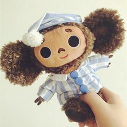 Big eye monkey plush toys online shopping - Russia Cheburashka Big Ear Monkey Plush Toys For Children Big Eyes Long Plush Stuffed Animals Monkey Dolls For Boys Girls Gift J190718
