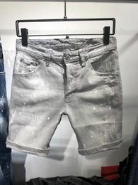 $enCountryForm.capitalKeyWord Australia - 2019 Mens Jeans Stylish Ripped Jeans Man Skinny Short Moto&Biker Denim Men Straight Denim Zipper Fly Knee Length