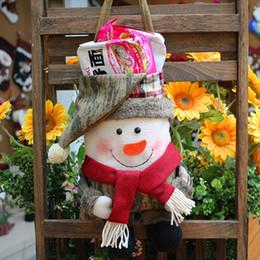 $enCountryForm.capitalKeyWord Australia - Christmas Candy Flannel Bags Santa Claus   Snowman Handbag Christmas Ornaments Party Decoration Portable Cute Gift Bag