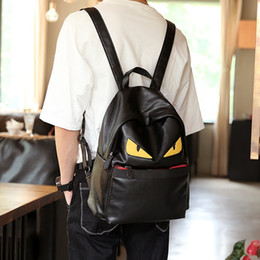 cool high school bags NZ - Famous Designer Travel Backpack eyes Cartoon expression Casual Student School Bags Teenagers High Quality Moster Cool double Shoulder Bags