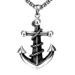 Vintage anchors necklace online shopping - Vintage Necklaces Stainless Steel Anchor Necklace Ancient Maya Stainless Steel Fashionable Religious Jewelry for Men Faith Jesus POTALA052