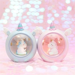 Toys Lamp Australia - Bedroom Creative Small Table Lamp Unicorn Star Candy Color Lovely Toy Night Light Fine Gift Hot Sale 16 9cm I1