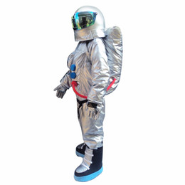 Wholesale space suits resale online - Hot Sale High Quality Space suit mascot costume Astronaut mascot costume with Backpack glove shoes