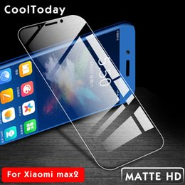 Wholesale Frosted Matte Tempered Glass For Xiaomi Mi MAX Screen Protector For xiaomi max Full Protective Film