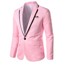 stylish formal suits Australia - Men's Formal cocktail blazer Stylish Casual Plus Size Solid Blazer Business Wedding Party Outwear Coat Suit Tops ropa hombre 03*