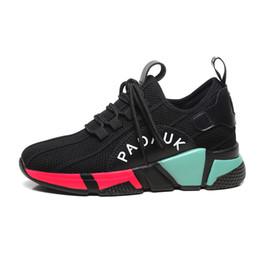 Black Ladies Shoe UK - 2019 New women Running Shoes Breathable high top Sport Sneakers Athletic Increasing height lady girl walking tennis shoes