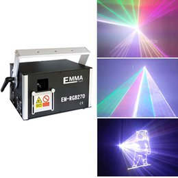 cards slots NZ - ILDA DMX SD CARD SLOT 5 Watt RGB 3d Animation Pub bar Disco party bands professional stage Laser Lights equipment For DJ