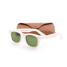 $enCountryForm.capitalKeyWord UK - Hot sales glass Lens Green Lens Sunglasses Plank white Sunglasses High Quality Brand Sun glasses Designer glasses with Original cases boxs