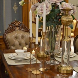 simple wedding room decoration NZ - Nordic Style Metal Candle Holders Simple Golden Wedding Decoration Bar Party Living Room Decor Home Decor Candlestic