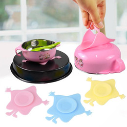 pads suction cups NZ - Wholesale- New Creative Child Tableware Sucker Sticker Bowl Pad Cute Shape Plate Kids Bowl Magic Suction Cup Non-slip Mat ZHH591