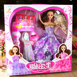 Baby Gift Delivery Australia - Doll Suit Princess Wedding Dress Will Gift Box Dream Wardrobe Facelift Girl Childrens Toys Baby A Doll Random delivery