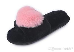 $enCountryForm.capitalKeyWord Australia - Women Plush Slippers Winter Fur Warm Flat Anti Slip Cute Slipper Female Casual Shoes