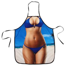 christmas aprons funny Australia - Sexy Kitchen Apron Funny Creative Cooking Aprons for Men Women Girlfirend Boyfriend Christmas Birthday Gifts (Beach Bikini)
