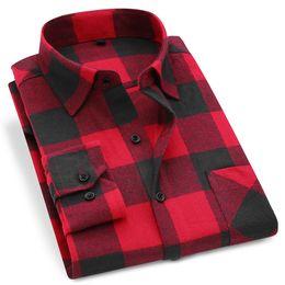 $enCountryForm.capitalKeyWord Australia - Men Flannel Plaid Shirt 100% Cotton 2019 Spring Autumn Casual Long Sleeve Shirt Soft Comfort Slim Fit Styles Brand Man Plus Size MX190720