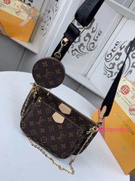 baby purse designs NZ - #6450 Brand Hot Top Quality MULTI POCHETTE ACCESSORIES Design Shoulder Bags Fashion Women 3pcs Bags with Wallet Purse 44813 44823 44840