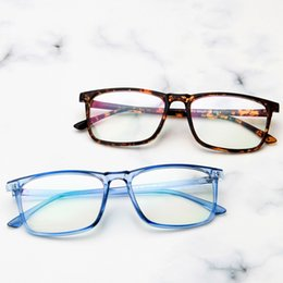 bf8fab031448 2019 New retro square glasses frame Korean version of the trend of flat  mirror literary wild student simple glasses frame.