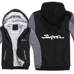 ToyoTa car logos online shopping - winter hoody Toyota Supra car logo print Men women Warm Thicken Hoodies autumn clothes sweatshirts Zipper jacket fleece hoodie streetwear
