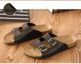 $enCountryForm.capitalKeyWord NZ - Man Slippers Summer Beach Cork Slippers Casual Flip Flops Shoes Summer Couples Flat Sandalias Zapatos Plus Size 35-46