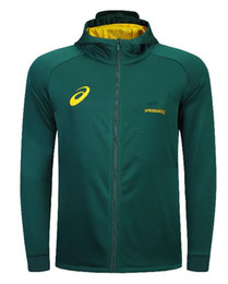 Chinese  2019 South Africa Home Jersey SPRINGBOK SIDE LINER JACKET Hoodies Springboks South African national team rugby jerseys Hoodie Jacket s-3xl manufacturers
