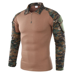 army camouflage uniform men Australia - Outdoor Men Tactical Uniform T-Shirt Camouflage Combat-Proven Shirts Men Camping Hiking Hunting Frog Tee Shirts