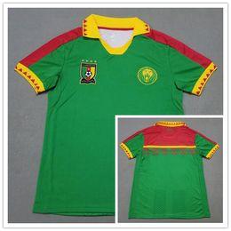 71164c8c8 Custom Football Jersey Shirts Canada - 2019 Cameroon Soccer Jerseys Home  Green Away White Eto o
