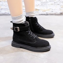 $enCountryForm.capitalKeyWord Australia - 2018 winter new female comfortable round head plus cotton warm boots ladies fashion casual boots Women Lace-Up boots mujer v60